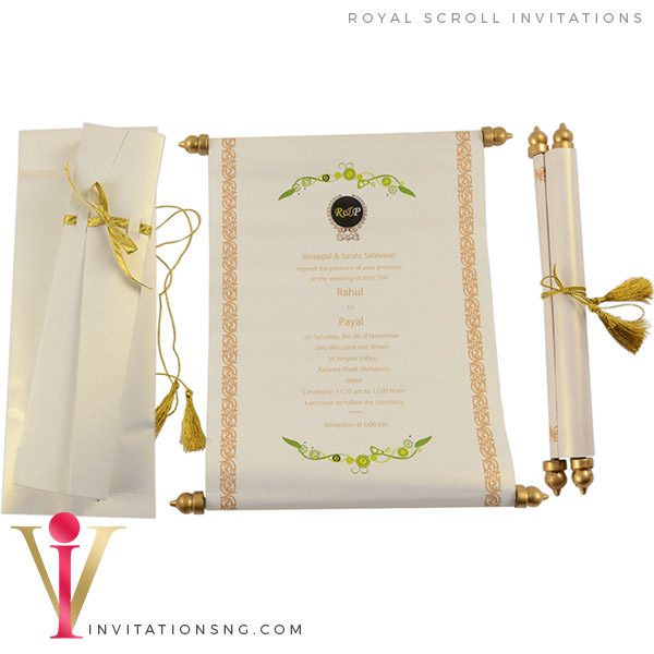 Scroll Invitation S1090 at invitationsng.com