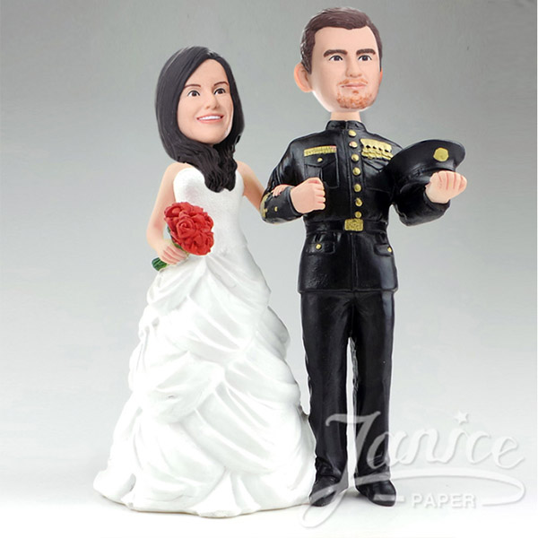 Janice wedding bobblehead couples now available at invitationsng.com