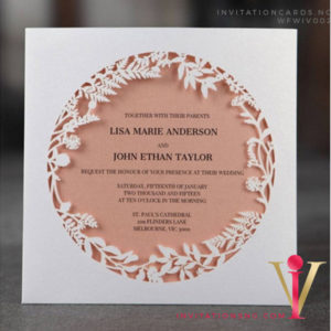 Floral Circle Lasercut Invitation Card WFWIV002 is now available at invitationsng.com. Call 08173093902