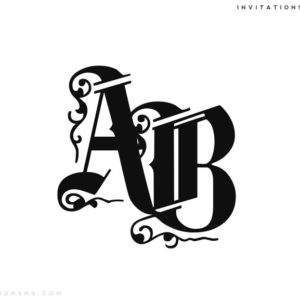 Use Invitationsng Monogram 10 or Typography 10 for all your event stationery in Nigeria at invitationsng.com