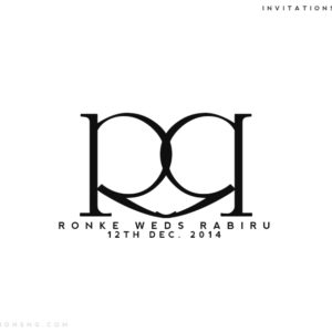 Use Invitationsng Monogram 13 or Typography 5 for all your event stationery in Nigeria at invitationsng.com