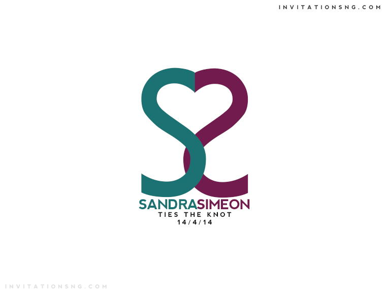 Use Invitationsng Monogram 5 or Typography 5 for all your event stationery in Nigeria at invitationsng.com