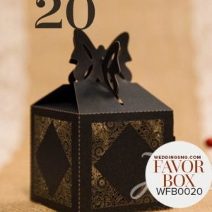 Charming Floral Laser Cut Wedding Favor Boxes WBC0020 for occasions and events at invitationcards.ng