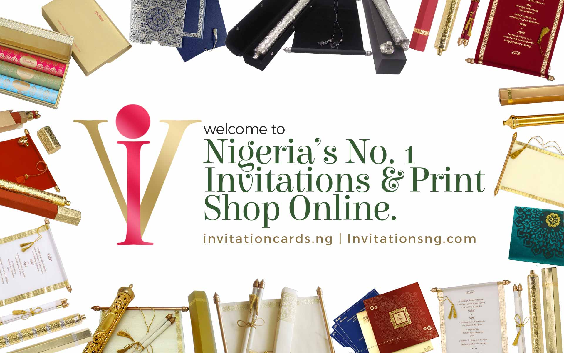 Welcome to Invitationcards.ng also trading as invitationsng.com, Nigeria's No. 1 Invitations & Print Shop Online