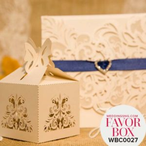 Charming Laser Cut Wedding Favor Boxes WBC0027 for occasions and events at invitationcards.ng