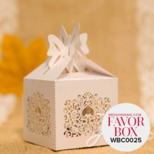 Elegant Pocket Fold Laser Cut Wedding Favor Boxes WBC0025 for occasions and events at invitationcards.ng