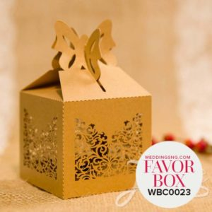 Graceful Laser Cut Wedding Favor Boxes WBC0023 for occasions and events at invitationcards.ng