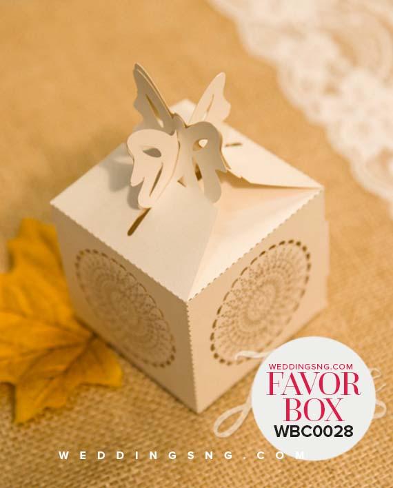Rustic Semicircle Floral Laser Cut Wedding Favor Boxes Wbc0028