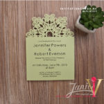 Flat Laser Cut Invitation Card WFL0107 is now available at invitationsng.com. Call 08173093902