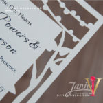 Flat Laser Cut Invitation Card WFL0108 is now available at invitationsng.com. Call 08173093902