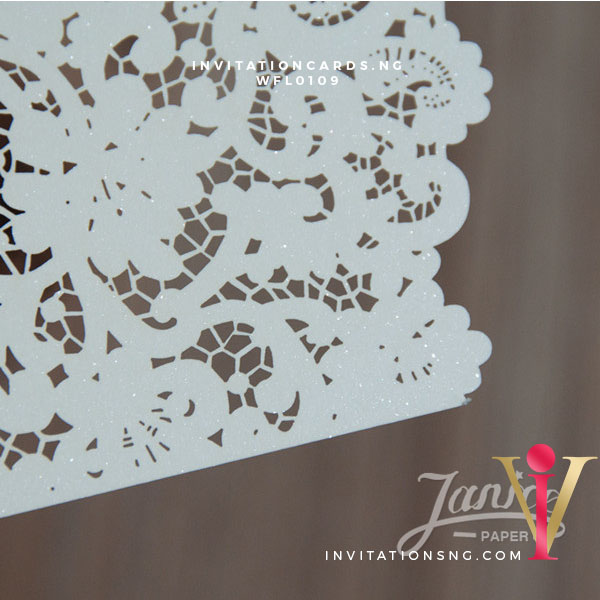 Flat Laser Cut Invitation Card WFL0109 is now available at invitationsng.com. Call 08173093902
