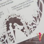 Flat Laser Cut Invitation Card WFL0111 is now available at invitationsng.com. Call 08173093902