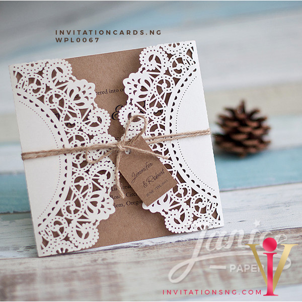 Affordable Rustic Floral Laser Cut Wholesale Wedding Invitation Cards WPL0067